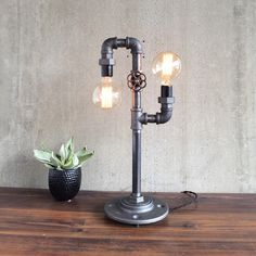Dueling Edison Table Lamp