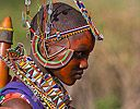 Wedding dress for young Masai Women in Kenya