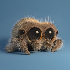 """Lucas the Cute Little Spider In 'Musical Spider' In the latest episode of the adorable animated short series, """"Lucas the Spider,"""" by animator Joshua Slice… Cute Fantasy Creatures, Cute Creatures, Beautiful Creatures, Cute Animal Drawings, Cute Drawings, Cute Baby Animals, Funny Animals, Lucas The Spider, Regard Animal"""