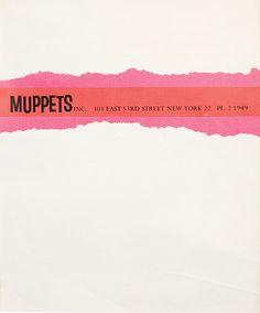 Muppets Inc. letterhead, 1963