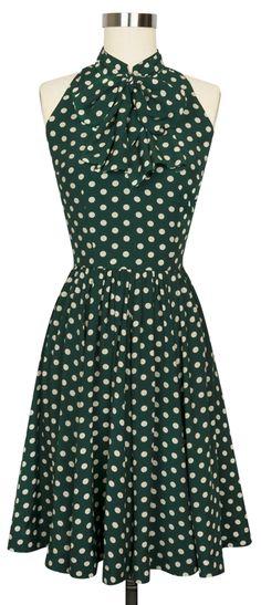The Trashy Diva Streetcar Dress is back in the new Irish Polka print!