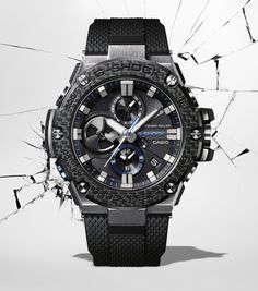G-Shock Announces Retail Availability Of Connected Carbon Bezel G Watch, Casio Watch, Casio G Shock Watches, Rolex Watches, Cool Watches, Watches For Men, Casio Vintage, Swiss Army Watches, Stainless Steel Watch