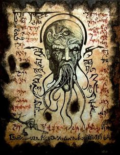 Cthulhu The Mouth of Madness Necronomicon Black Magick by zarono, Hp Lovecraft, Lovecraft Cthulhu, Larp, Cthulhu Mythos, Necronomicon Lovecraft, Lovecraftian Horror, Dark Artwork, Ange Demon, Occult Art