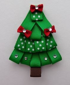 christmas tree hair bows - Google Search