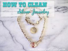 the Diary of DavesWife: How to Clean Silver Jewelry {Chemical FREE} with stuff you already have in your house! #Tips #clean