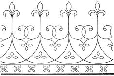 Embroidery Design – Fleur de Lys Border – Needle'nThread.com