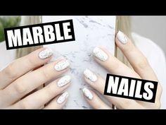How To: White Stone Marble Nails    Marine Loves Polish - YouTube