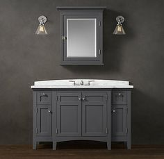 Cartwright Extra-Wide Single Vanity 52.5 inch fits in our 55 inch hole.
