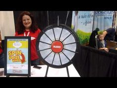 OMG... look it is Romy and Michelle's Post-It Note Prize Wheel. Buy this Prize Wheel at http://PrizeWheel.com/products/tabletop-prize-wheels/mini-clicker-prize-wheel/.