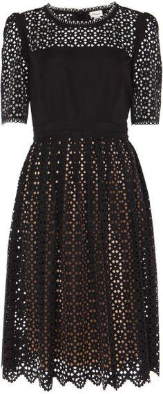 Temperley London Templeton Dress in Black/Champagne