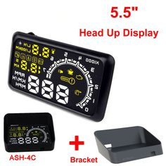 "ActiSafety 5.5"" Screen Car Head Up Display cars HUD OBD2 Port Warning Windshield Projector Alarm System OBDII Overspeed MPH KM/h #Affiliate"