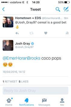Josh replied to my tweet 💕 Josh Gray, Messages, Text Posts, Text Conversations