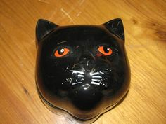 Vintage Black Cat Music Box Ceramic Jewelry Box by TheIDconnection, $25.00