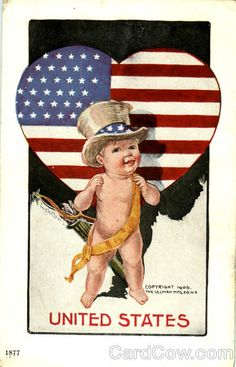 United States Baby National Cupid Series Patriotic