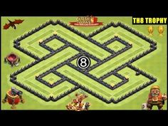 Town Hall 8 [War/Hybrid/Trophy] Base | Clash of Clans | TH8 4 Mortars Defense Base by RECKLESS - YouTube