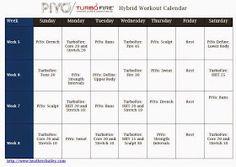 Hard workin mommie: PiYo and TurboFire Hybrid Calendar