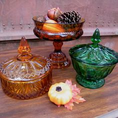Glassware Vintage Instant Collection in Amber and by GloryBDesign, $49.95 Love it!