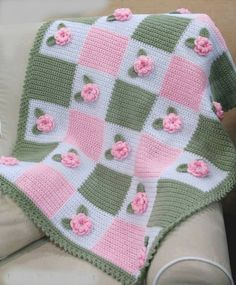 Love the colors Victorian 'Audrey Rose' Baby Crochet Afghan Pattern 3 DKnitted Baby Blanket Patterns You can find expressive content here for baby blanket models. Baby blankets and examples are our most valuable handbags for babies, weaving baby blan Crochet Afghans, Poncho Crochet, Baby Afghans, Crochet Stitches, Crochet Roses, Free Crochet, Crochet Hippo, Crocheted Flowers, Crochet Stars
