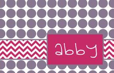 """Personalized Placemat - matches kids plate and dishsets 12x18"""""""