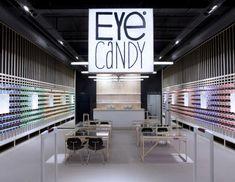 Eye Candy eyewear shop by Creneau International, Belgium store design branding