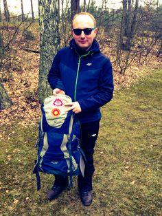 Polskie naszywki #caminodesantiago już na plecaku :)