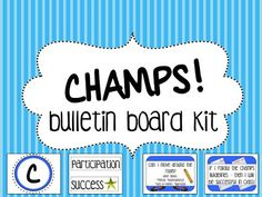 Life in Middle School: CHAMPS Bulletin Board Hmmm.need to look into adding the S to my board! Middle School Reading, Middle School Classroom, Middle School Science, Beginning Of School, School Fun, School Stuff, School Ideas, School Daze, Daycare Ideas