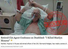 Fake News Story - 'I KILLED MARILYN MONROE'