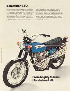 Honda CL-450 Scrambler....what she looked like before josh took her apart
