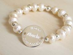 MISS MEDALLAS : Pulseras Miss Medallas: Pulsera de plata y de perlas. Pulseras elásticas y demás