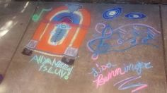 My sidewalk art from old fashion festival in Newberg if anyone is in Oregon I recommend you going.