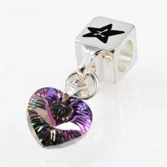 Charm with SWAROVSKI ELEMENTS crystal heart pendant Iridescent Volcano Crystal, silver version http://store.lovya.net/letters-from-your-heart-lovya/326-charm-wiszacy-krysztal-swarovski-elements-serduszko-opalizujacy-krysztal-volcano-wersja-srebrna.html