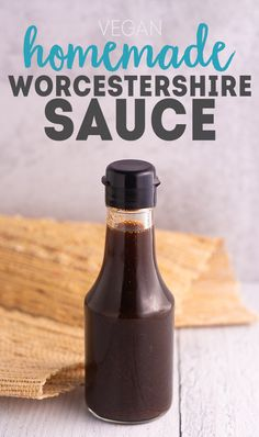 Homemade Worcestershire Sauce that is totally VEGAN! No fish sauce, no anchovies, just simple ingredients. Homemade Worcestershire Sauce that is totally VEGAN! No fish sauce, no anchovies, just simple ingredients. Vegan Foods, Vegan Dishes, Vegan Lunches, Vegan Snacks, Whole Food Recipes, Cooking Recipes, Cooking Tips, Vegan Kitchen, Gluten Free Recipes