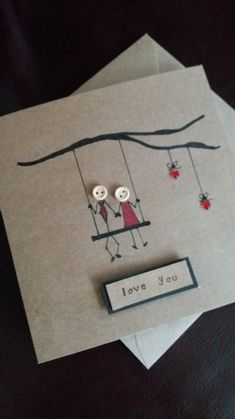 Wedding Cards Handmade, Handmade Birthday Cards, Wedding Gifts, Wedding Ideas, Love Cards Handmade, Handmade Ideas, Etsy Handmade, Unique Birthday Gifts, Birthday Diy