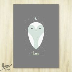 beethings: barn owl - limited edition print ($25)
