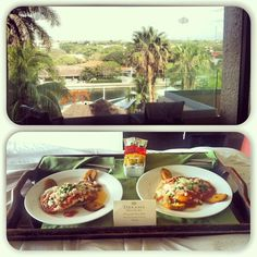 Enjoy breakfast on your balcony! 24 hr room service is all included at Dreams Puerto Aventuras