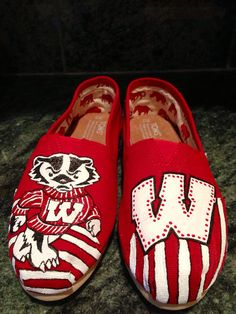 Wisconsin Badger Converse Shoes