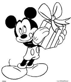 Mickey Mouse Christmas Coloring Pages Az Coloring Pages Gift Coloring Pages Mickey Mouse
