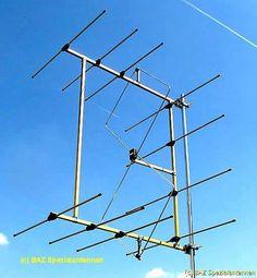 Double quad antenna with 50 ohm, Antenna for Amateurradio, Hamradio 2m-band BAZ Special antenna