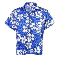 Same as hot pink shirt also available in mens M Hawaiian Shirt Aloha Beach Big Chaba Hibiscus Leisure Blue M hb234s #sbds #ButtonDownShirt #Casual