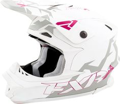 FXR Racing - 2015 Snowmobile Apparel - Blade Helmet - White/Fuchsia Matte