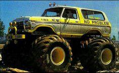 Big Monster Trucks, Monster Track, Monster Car, 4x4 Trucks, Lifted Trucks, Ford Trucks, 70s Cars, Power Metal, Classic Monsters
