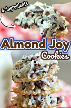 Banana Pudding Cookies, Easy Banana Pudding, Köstliche Desserts, Delicious Desserts, Dessert Recipes, Almond Joy Cookies, Almond Joy Cake, Yummy Treats, Sweet Treats