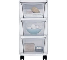 Merveilleux Buy HOME 3 Drawer Slim White Tower Plastic Storage Unit At Argos.co.uk