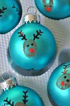 Thumbprint reindeer...cute