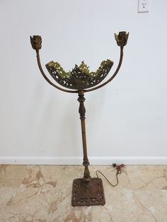 Antique Cast Bronze Sail Ship Regency Base Fish Tank Stand