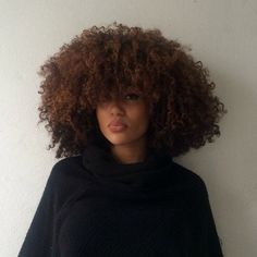 Pinterest: mostlymaya ☽↡☾gorgeous naturally curly brown Afro