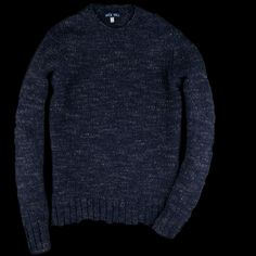 UNIONMADE - Alex Mill - Macho Alpaca Blend Crew Sweater in Heather Navy