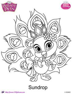 prinxess palace pets printable coloring page Gleam | Princess ...