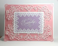 "Gina Marie Designs ""Sympathy"" die &  Craftusprint rose frame cut file"