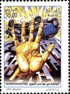 Sécurité routière DZ N° 027.09 Le 5 août 2009 | philatelyfriend Timbre Collection, Postage Stamp Art, Inspiration, Postage Stamps, Penny Black, Stamps, Truck, Africa, World